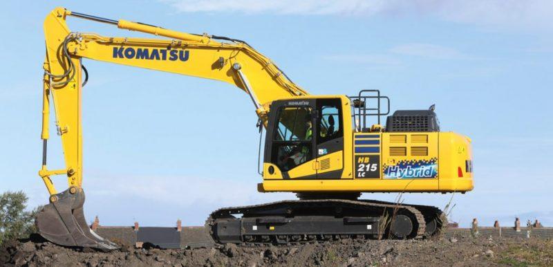Komatsu HB215LC-3 Hybrid excavator