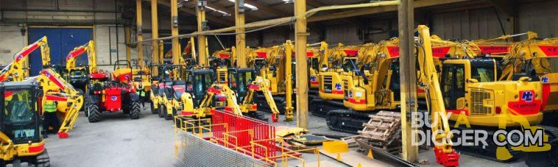 Used Construction Machinery in warehouse