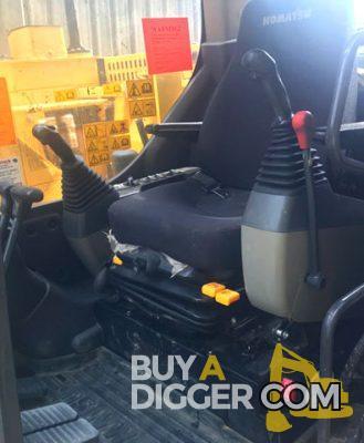 Inside the Komatsu Digger cab