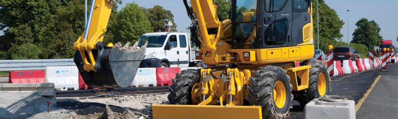 Wheeled excavators for sale