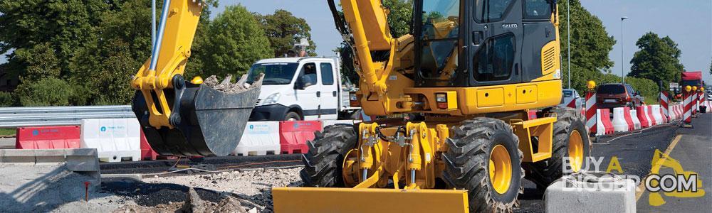 Wheeled excavators for sale