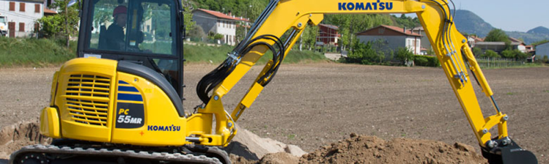Buy a mini digger - Komatsu PC55 MR-3