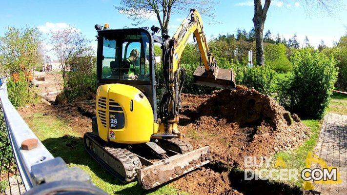 buy a mini digger - garden landscaping