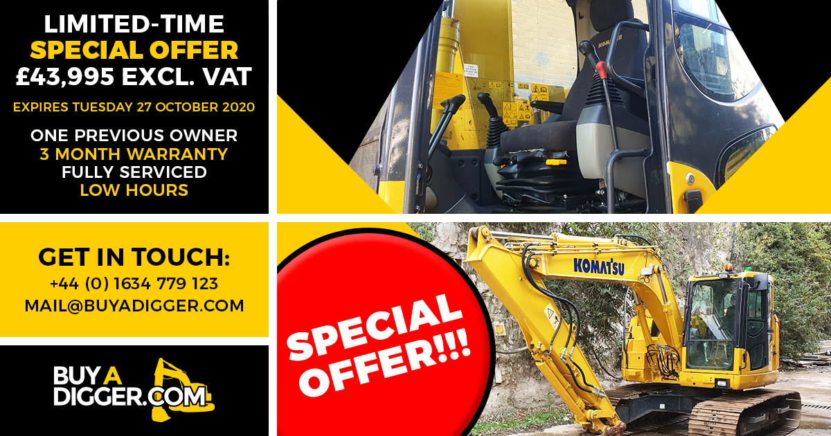 Komatsu diggers for sale - special offer